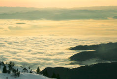 Cabanas alpinas Fotografia de Stock