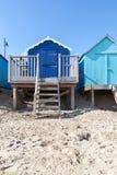 Cabanas azuis da praia Fotos de Stock Royalty Free