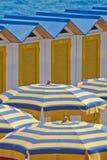Cabanas and Beach Umbrellas Royalty Free Stock Photo