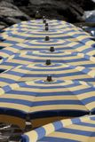 Cabanas and Beach Umbrellas Stock Photos