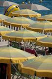 Cabanas and Beach Umbrellas Royalty Free Stock Photos
