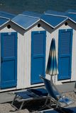 Cabanas and Beach Umbrellas Royalty Free Stock Photography