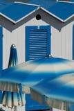 Cabanas and Beach Umbrellas Stock Photography