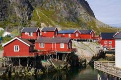 Cabanas cénicos da pesca imagem de stock royalty free