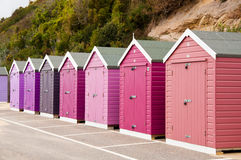 Cabanas coloridas da praia Foto de Stock Royalty Free