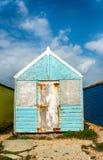 Cabanas coloridas da praia Imagens de Stock