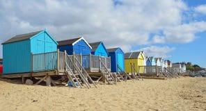 Cabanas coloridas da praia Imagens de Stock Royalty Free