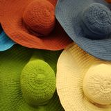 Cabanas coloridas do verão Imagens de Stock