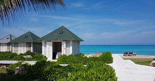 Cabanas cubanas Varadero da praia Fotos de Stock Royalty Free