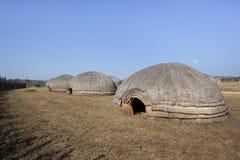 Cabanas da colmeia do tribo Zulu Imagens de Stock