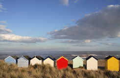 Cabanas da praia Imagem de Stock Royalty Free