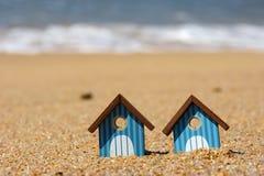 Cabanas da praia Fotografia de Stock