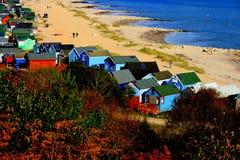Cabanas da praia Foto de Stock
