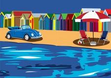 Cabanas da praia ilustração do vetor