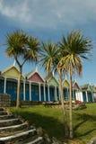 Cabanas da praia. Imagens de Stock