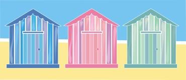 Cabanas da praia Imagens de Stock Royalty Free