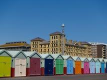 Cabanas da praia de Brigghton. fotografia de stock royalty free