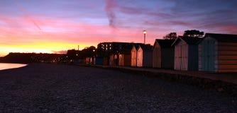 Cabanas da praia de Budleigh Fotografia de Stock Royalty Free