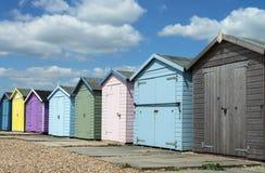 Cabanas da praia de Ferring Foto de Stock