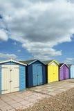 Cabanas da praia de Ferring Fotos de Stock