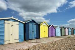 Cabanas da praia de Ferring Imagens de Stock Royalty Free