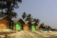 Cabanas da praia de Goa fotos de stock royalty free