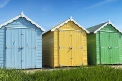 Cabanas da praia de Rustington Foto de Stock