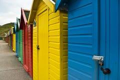 Cabanas da praia de Whitby Foto de Stock Royalty Free