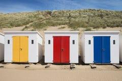 Cabanas da praia de Woolacombe Fotografia de Stock