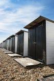 Cabanas da praia em Bexhill Fotos de Stock Royalty Free