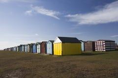 Cabanas da praia em Dovercourt, Essex, Inglaterra Fotografia de Stock Royalty Free