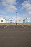 Cabanas da praia em Southwold, Suffolk Fotos de Stock Royalty Free