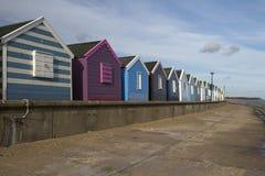 Cabanas da praia em Southwold, Suffolk, Inglaterra Imagem de Stock Royalty Free