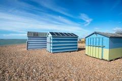 Cabanas da praia da ilha de Hayling Imagem de Stock Royalty Free