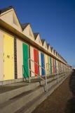 Cabanas da praia, Lowestoft Imagens de Stock