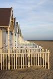 Cabanas da praia, Mersea ocidental Imagens de Stock