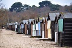 Cabanas da praia no inverno Foto de Stock