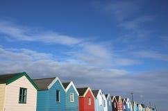 Cabanas da praia no southwold Fotografia de Stock