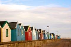 Cabanas da praia no southwold Imagem de Stock Royalty Free