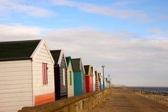 Cabanas da praia no southwold Fotografia de Stock Royalty Free