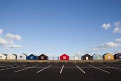 Cabanas da praia, Southwold, Suffolk, Inglaterra Fotos de Stock