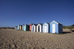 Cabanas da praia, Southwold, Suffolk, Inglaterra Fotografia de Stock