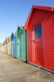Cabanas da praia, Whitby Fotografia de Stock Royalty Free