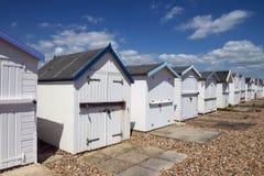 Cabanas de enesgamento da praia Fotografia de Stock Royalty Free