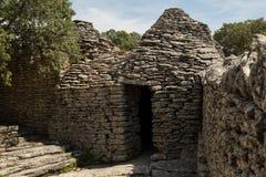 Cabanas de pedra, DES Bories da vila, França Fotografia de Stock