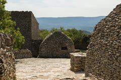 Cabanas de pedra, DES Bories da vila, França Fotografia de Stock Royalty Free