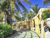 Cabanas do Poolside Imagens de Stock