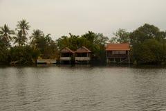 Cabanas do rio Foto de Stock Royalty Free