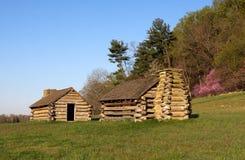 Cabanas dos soldados na forja do vale Foto de Stock