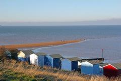 Cabanas e banco de areia da praia Fotografia de Stock Royalty Free